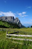 Sciliar from Seiser Alm Alpe di Siusi, Dolomites, Trentino-Alto Adige Royalty Free Stock Images