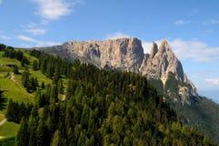 Sciliar von Seiser Alm Alpe di Siusi, Dolomit, Trentino-Tiroler Etschland Lizenzfreie Stockfotografie