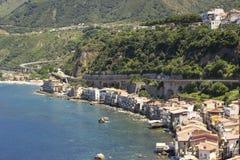 Scilla,卡拉布里亚,意大利,欧洲 免版税库存照片
