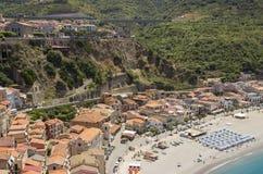Scilla,卡拉布里亚,意大利,欧洲 图库摄影