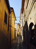 Scilla,雷焦卡拉布里亚,意大利小街道  免版税库存图片