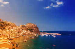 Scilla castle in Calabria royalty free stock image