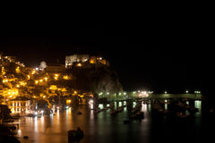 Scilla castle taken by a night Shot Royalty Free Stock Photo