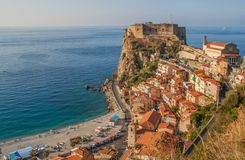 The beautiful seaside village of Scilla, Italy. Scilla, Italy - Laying just in front of Sicily, Scilla is one of the most beautyful seaside villages of Italy royalty free stock images