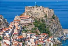 The beautiful seaside village of Scilla, Italy stock photo