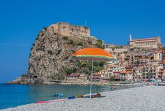 The beautiful seaside village of Scilla, Italy. Scilla, Italy - Laying just in front of Sicily, Scilla is one of the most beautyful seaside villages of Italy royalty free stock image