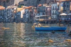 The beautiful seaside village of Scilla, Italy. Scilla, Italy - Laying just in front of Sicily, Scilla is one of the most beautyful seaside villages of Italy royalty free stock photo