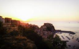 Scilla landscape. Landscape of Scilla, small seaside town Stock Photos