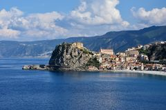 Scilla, old fisherman village in Calabria stock images