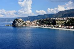 Scilla, old fisherman village in Calabria stock photography