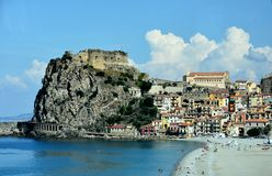 Scilla, old fisherman village in Calabria royalty free stock photos
