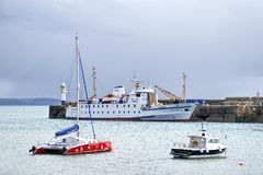 Scillonian III At Penzance Harbour Stock Photography
