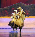 Scimitar dance-Hui ballet moon over Helan Royalty Free Stock Photo
