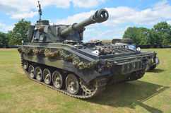 Scimitar light tank on show in St Neots. Royalty Free Stock Photography