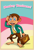 Scimmia in abbigliamento convenzionale royalty illustrazione gratis