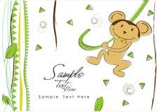 Scimmia allegra della giungla! illustrazione di stock