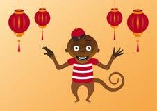 Scimmia asiatica felice Fotografia Stock