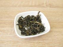 Scimmia cinese di bianco del tè Fotografie Stock Libere da Diritti