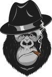 Scimmia con un sigaro illustrazione vettoriale