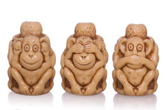 Scimmia dalla faccia tre del giocattolo Fotografia Stock