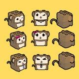 Scimmia del blocco Immagine Stock