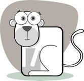 Scimmia del fumetto in in bianco e nero Fotografia Stock