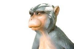 Scimmia della scultura fotografia stock libera da diritti