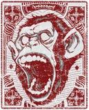Scimmia di grido Fotografie Stock Libere da Diritti