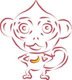 Scimmia di vettore Fotografia Stock Libera da Diritti
