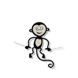 Scimmia divertente per la vostra progettazione Fotografie Stock