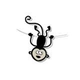 Scimmia divertente per la vostra progettazione Fotografia Stock Libera da Diritti