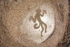 Scimmia - draving primitivo sulla pietra Immagini Stock Libere da Diritti