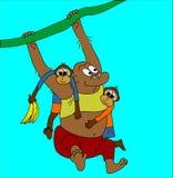 Scimmia e bambini Illustrazione di Stock