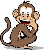 Scimmia felice Fotografia Stock Libera da Diritti