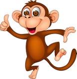 Scimmia felice Fotografie Stock