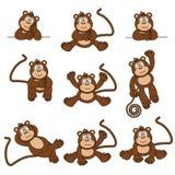Scimmia insolente illustrazione di stock