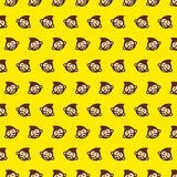 Scimmia - modello 58 di emoji illustrazione vettoriale