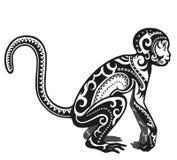 Scimmia ornata etnica Fotografia Stock