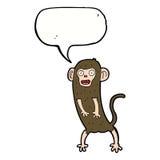 scimmia pazza del fumetto con il fumetto Fotografia Stock