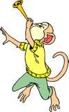 Scimmia per giocare la tromba immagini stock libere da diritti