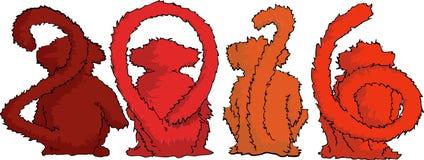 Scimmia quattro Immagini Stock