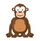 Scimmia sorridente Immagine Stock