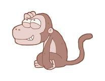 Scimmia sorridente del fumetto Fotografie Stock Libere da Diritti