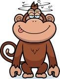 Scimmia stupida del fumetto Immagini Stock