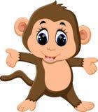 Scimmia sveglia del fumetto Fotografie Stock Libere da Diritti