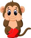 Scimmia sveglia del fumetto Fotografia Stock