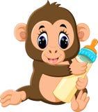 Scimmia sveglia del fumetto Fotografie Stock