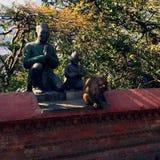 Scimmia Tempio delle scimmie nel Nepal Immagini Stock Libere da Diritti