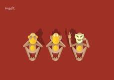scimmia 9-the terzo Immagini Stock