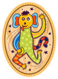Scimmia in un circo Fotografia Stock